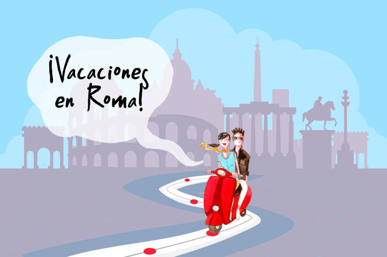 Viaje a Roma a bordo de una Vespa