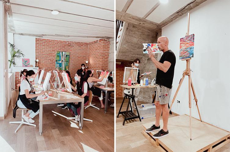 Arte Bar: tardes de pintura y vino