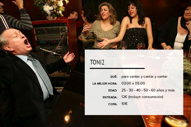 Toni2 Piano Bar Madrid