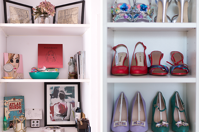 rincon estanteria decoración zapatos flora gonzalez presentadora