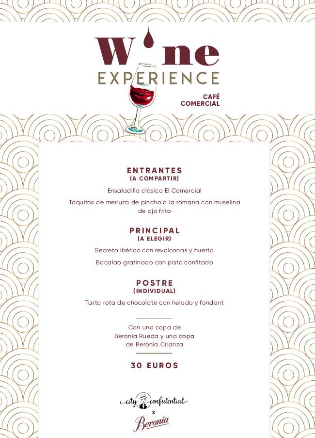 Wine Experience en el Café Comercial