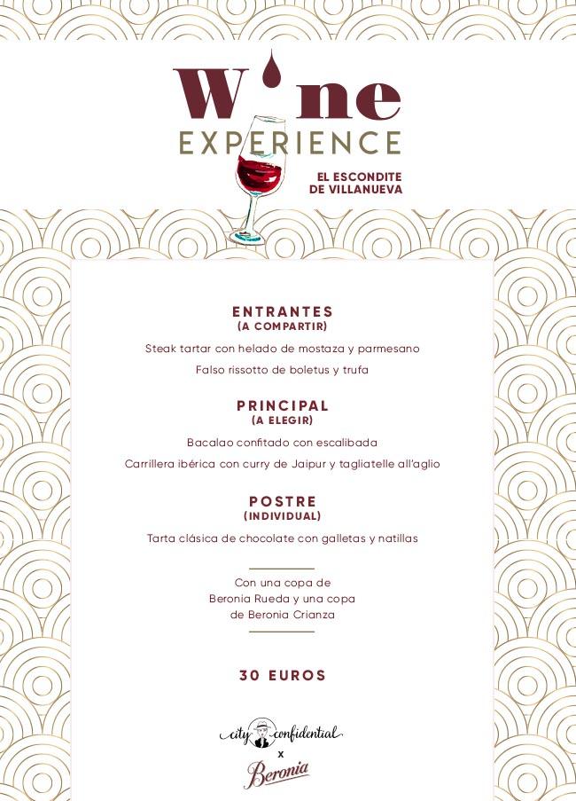 Wine Experience en El Escondite de Villanueva