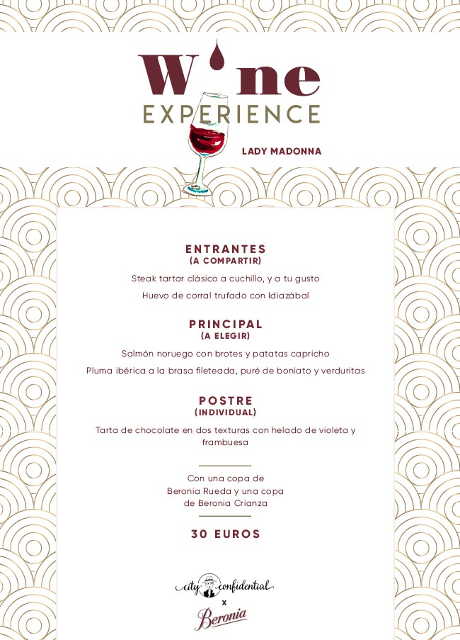 Wine Experience en Lady Madonna