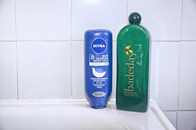 Los geles de ducha que utiliza 7 Pares de Katiuskas