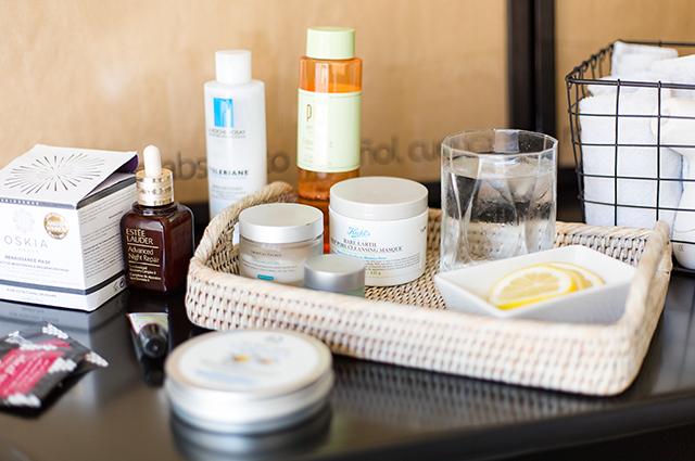 Productos de belleza para limpieza facial