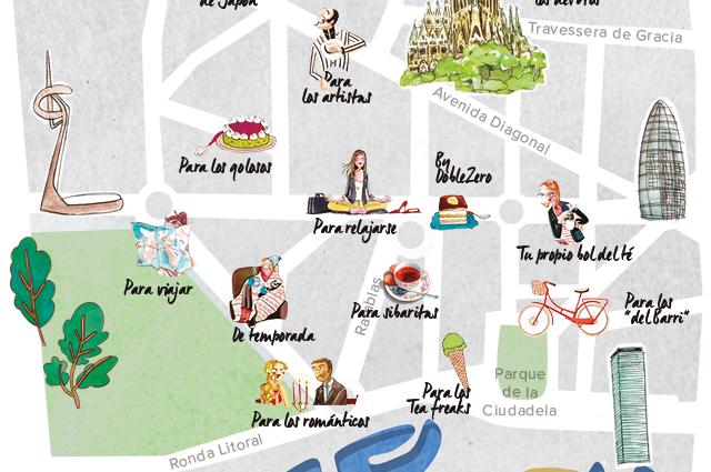 Mapa del té en Barcelona