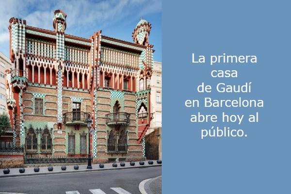 Casa Vicens en Barcelona