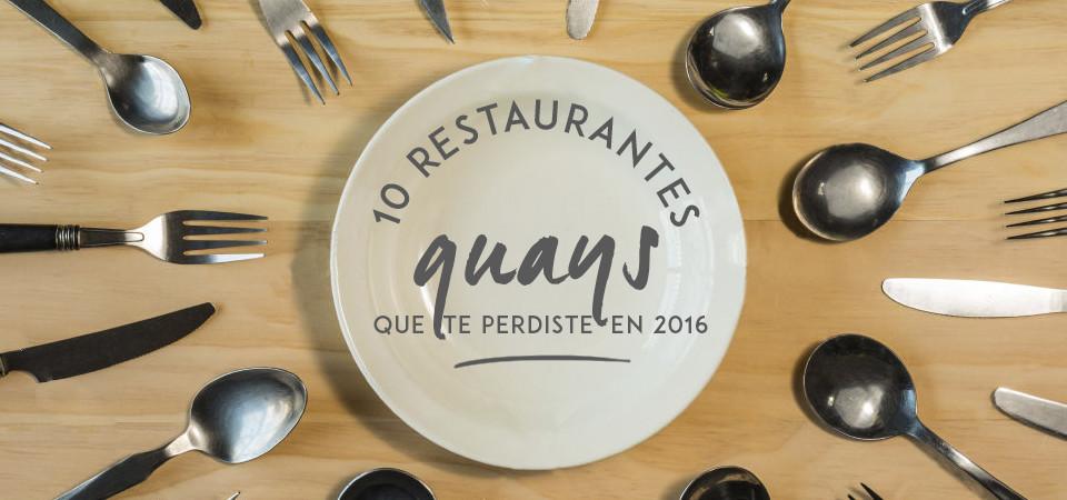 10 restaurantes guays que te perdiste en 2016