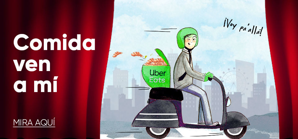 Uber Eats. Comida a domicilio