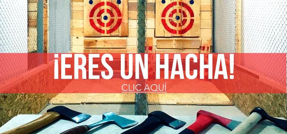 Lanzamiento de hachas en Madrid