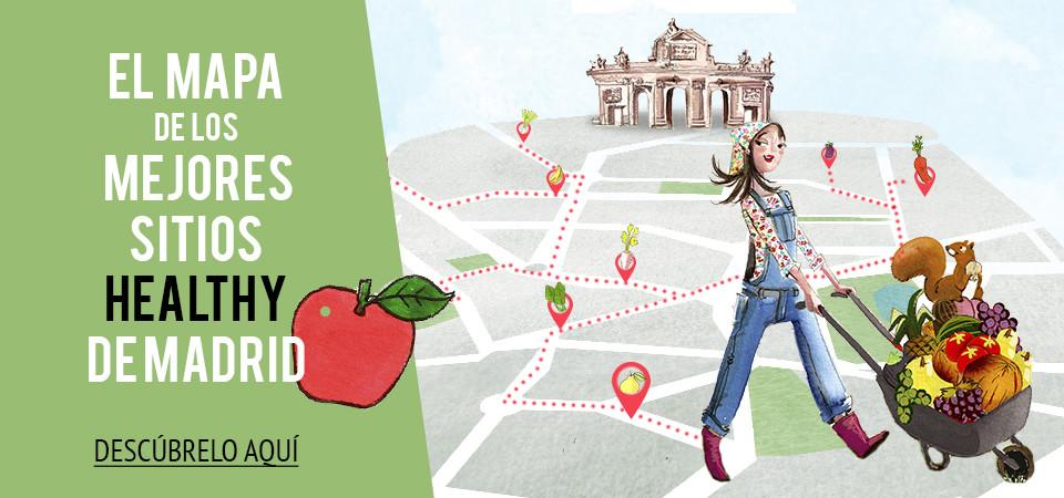 El mapa de los mejores sitios healthy de Madrid