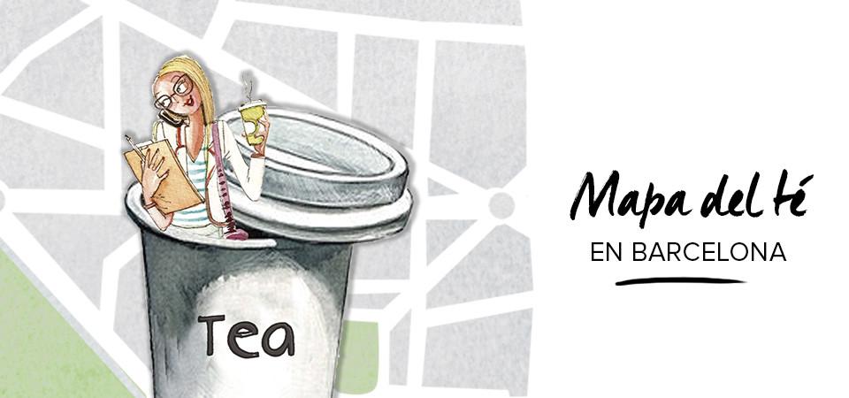 El mapa del Té en Barcelona