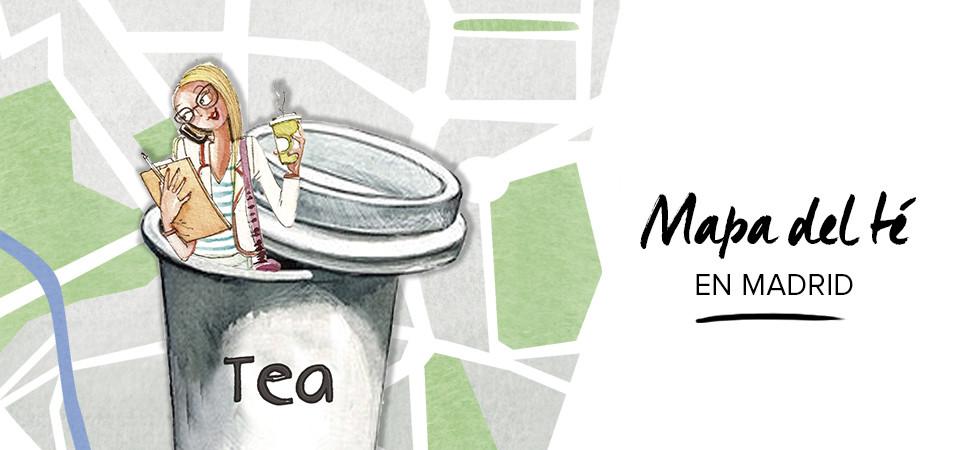 El mapa del Té en Madrid