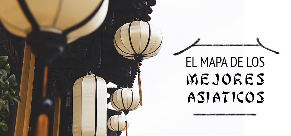 Mapa de los mejores asiáticos de Madrid