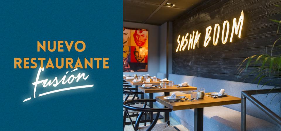 Sasha Boom, el nuevo restaurante fusión de Madrid