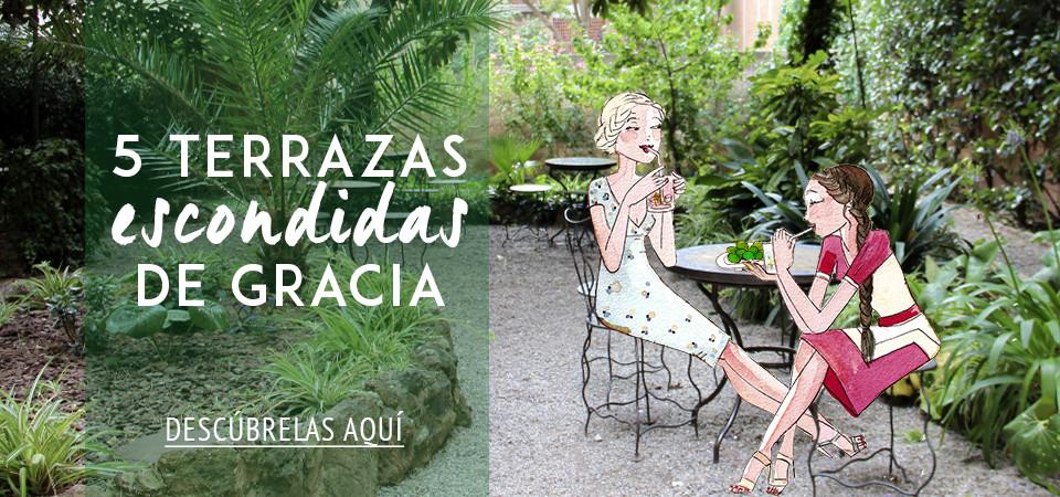 5 terrazas escondidas de Gracia en Barcelona