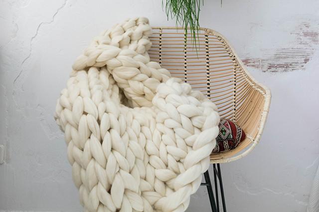 Taller de manta de lana merino DIY