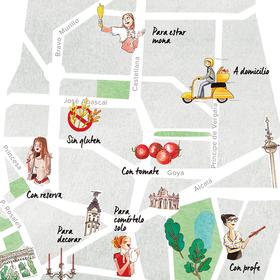 Mapa del pan en Madrid