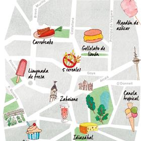 Mapa de los mejores helados de Madrid