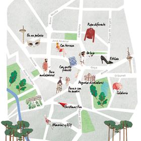 Mapa de los mercadillos