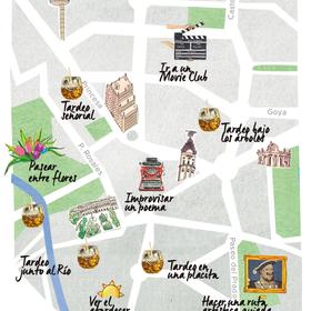 Mapa del tardeo en Madrid
