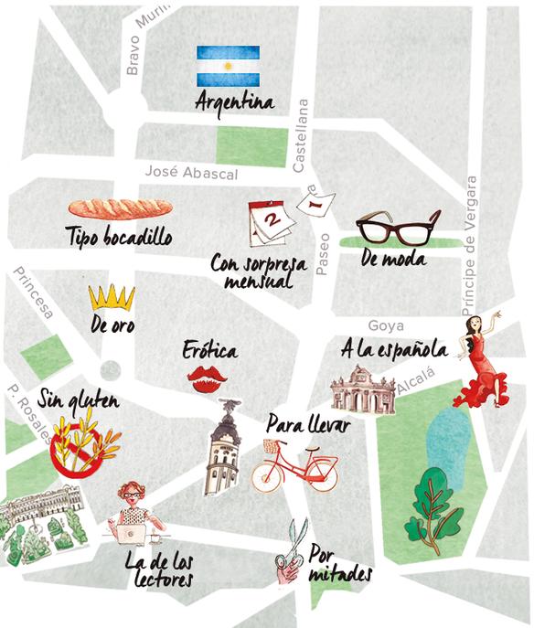 El mapa de la pizza en Madrid