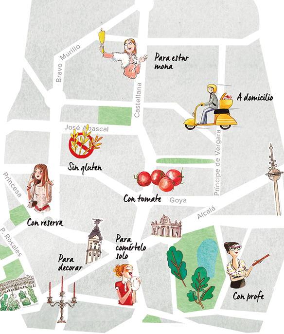 Mapa del pan en Madrid