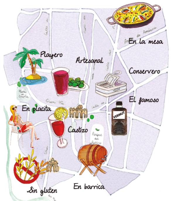 Mapa del vermut Madrid
