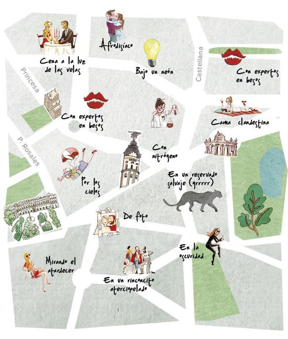 Mejores lugares donde besarse en Madrid