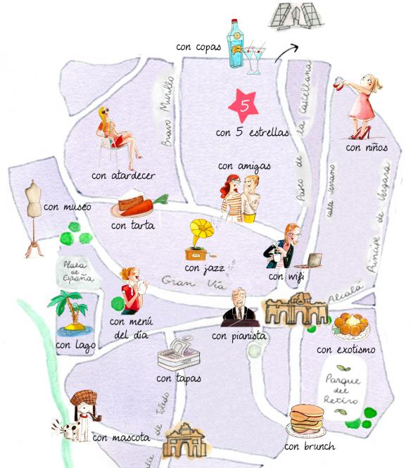 Mapa De Las Mejores Terrazas De Madrid City Confidential