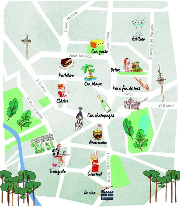Barrio Chueca Madrid Mapa.Nuevo Mapa De Los Mejores Brunch En Madrid City Confidential