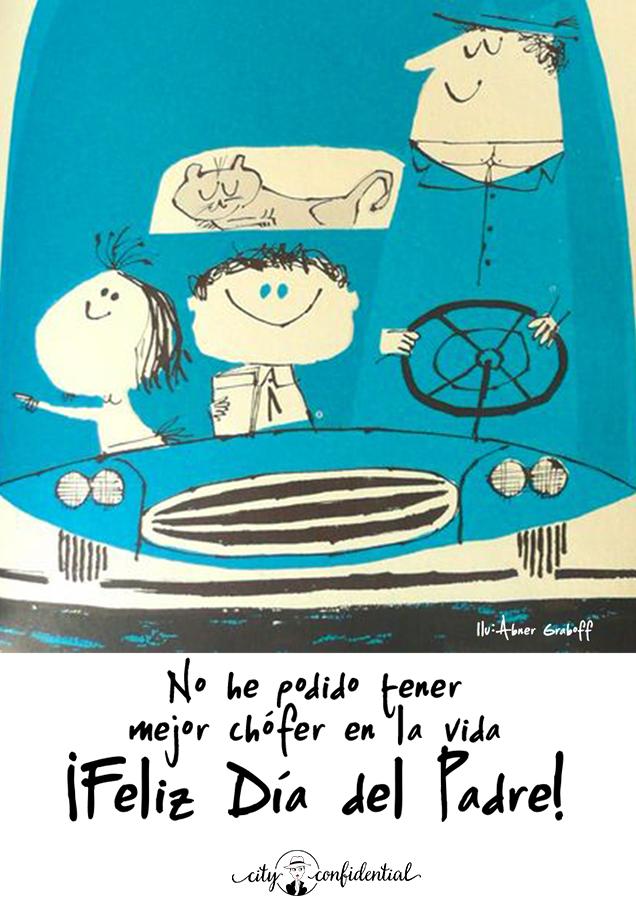 Tarjeta Día del Padre para padres chófer
